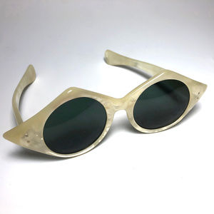 1960s French Pearlized Oval Sunglasses